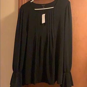 Anne Taylor black blouse sz L